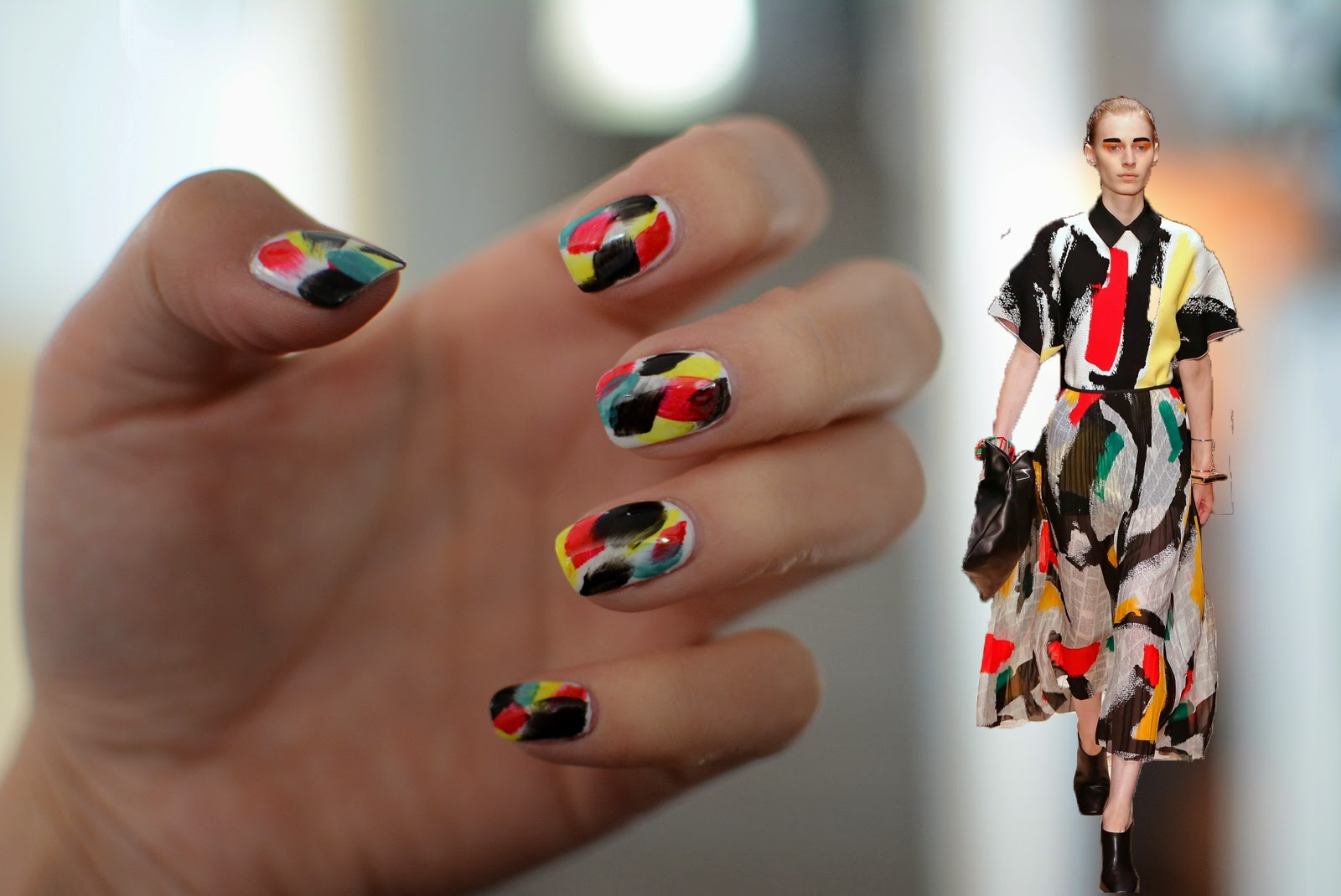 Brushstroke Nails Ejstyle